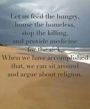 Let us feed the hungry